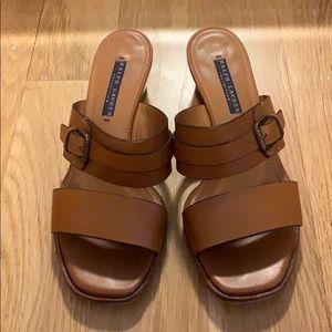 Ralph Lauren Collection Block Heeled Sandal